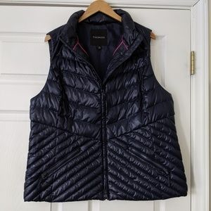 Talbots Quilted Navy Puffer Vest